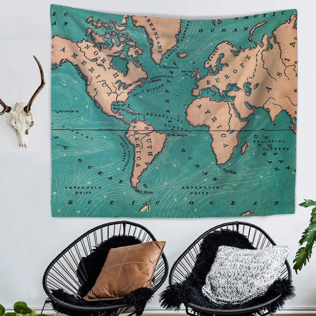 Top World Map Indian Tapestry Hippie Wall Hanging Tapestries Boho Bedspread  Beach Towel Yoga Mat Blanket Table Cloth
