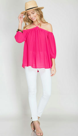 Paradise Chic - Hot Pink-Tops-Nola Rae Boutique