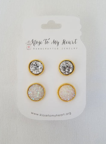 Shimmer & Shine Druzy Earring Set-Jewelry-Nola Rae Boutique