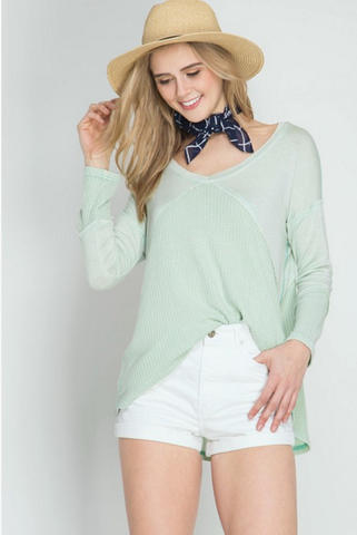 Spring Mint Thermal-Tops-Nola Rae Boutique