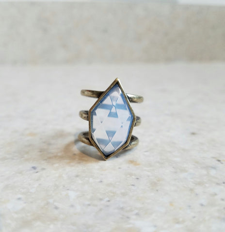Wanderer Ring - Brass and Opal-Jewelry-Nola Rae Boutique
