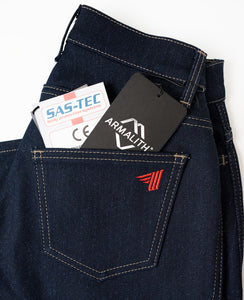 Made of Armalith 2.0 denim. Protection with a little stretch for comfort.