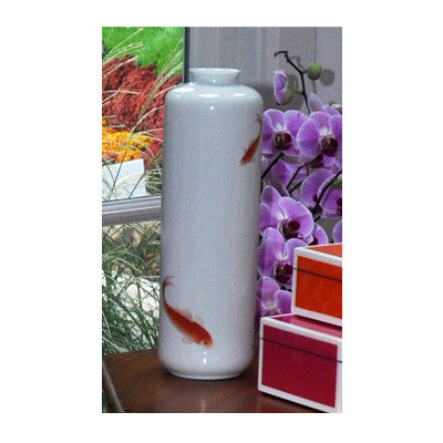 Hand Painted Fish Vase