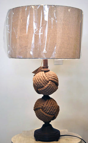 Woven Rope Spheres Table Lamp
