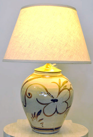 Hand-Crafted Ceramic Lamp