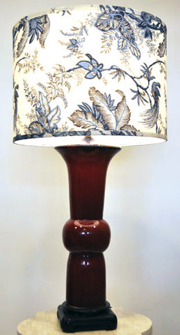 Oxblood Lamp - Jamie Young Toile Shade