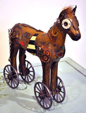 Folk Art Tin Horse