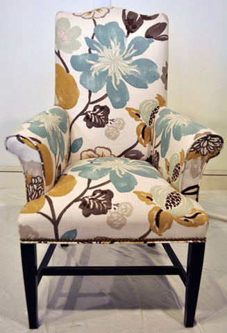 Floral Accent Arm Chair