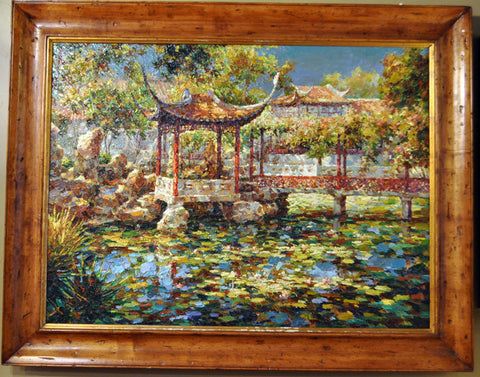 Pagoda Oil Painting