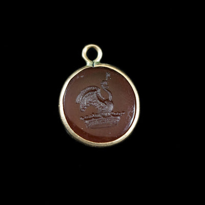 Antique Swan Signet Fob