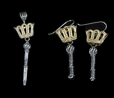 Crown and Scepter Earrings