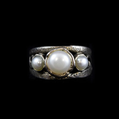 Sterling 3 Pearl Ring