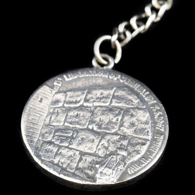 Sterling Reunification of Jerusalem Keychain