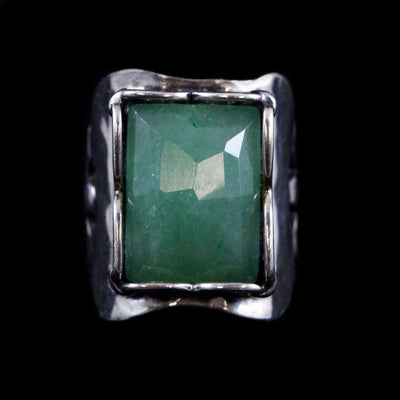 Sterling and Chalcedony Ring