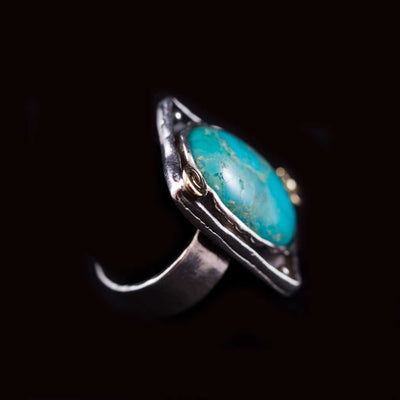 Oval Eilat Stone Ring