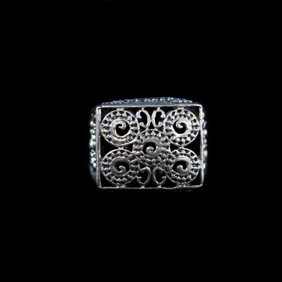 Vintage Sterling Filigree Ring