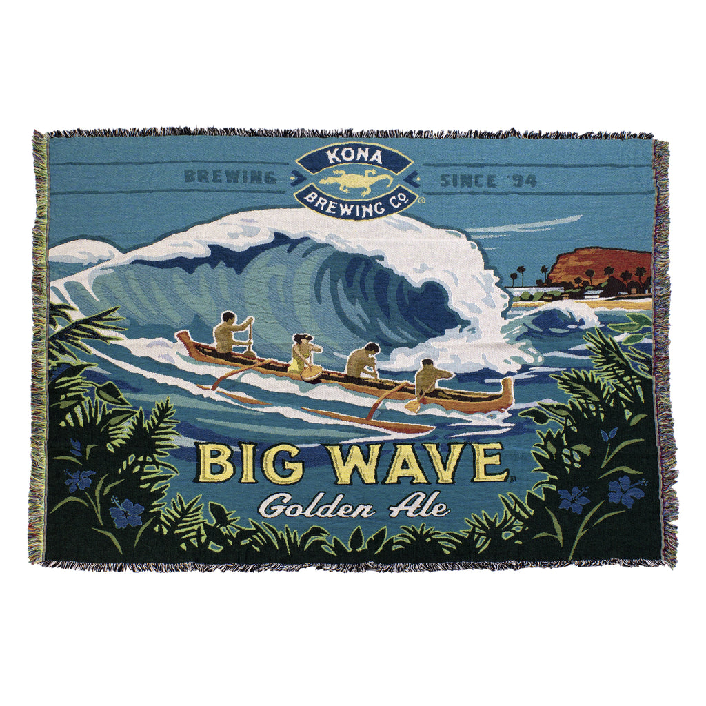 Big Wave Throw Blanket