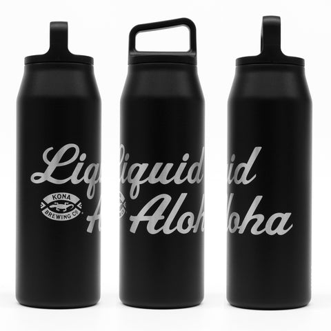 Kona x MiiR Liquid Aloha Bottle (32oz) – Black