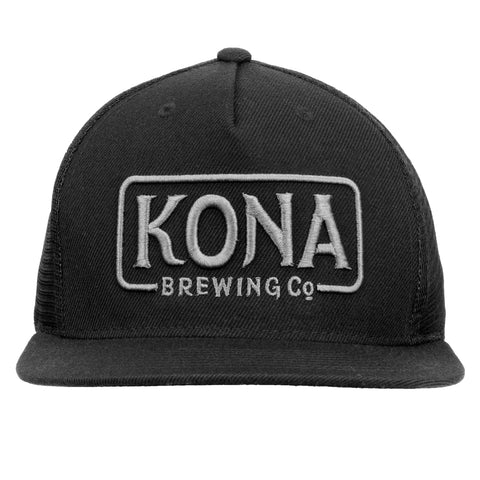 Kona Adustable Trucker Hat - Black / Grey