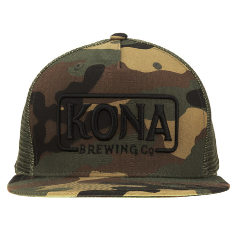 Kona Adjustable Trucker Hat - Camo / Black