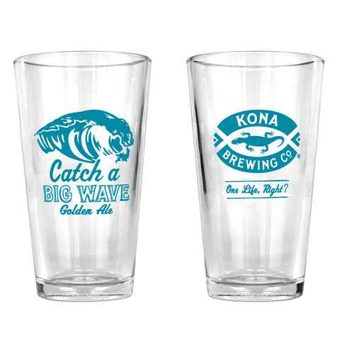 Big Wave Pint Glass