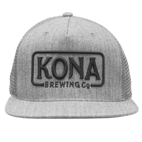 Kona Adjustable Trucker Hat - Heather Grey / Grey