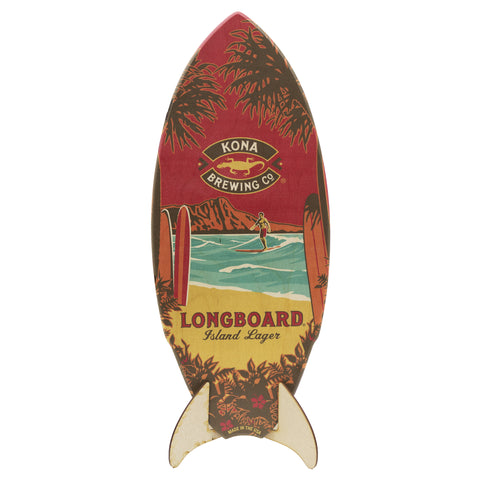 Longboard Surfboard Sign
