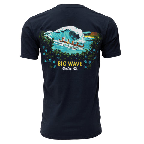Big Wave Golden Ale Label Tee
