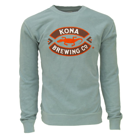 Kona Logo Crewneck Sweatshirt – Pigment Dyed Dusty Blue