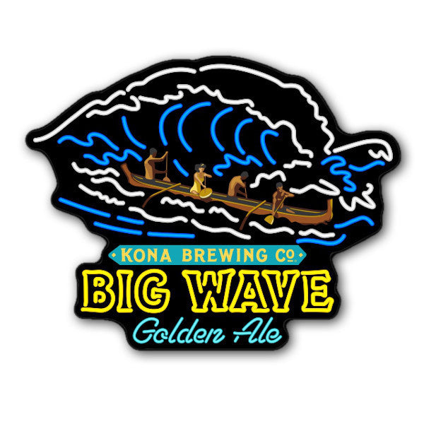 BIG WAVE GOLDEN ALE LED SIGN