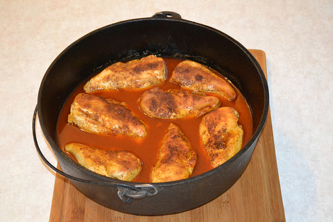Dutch oven chicken wings