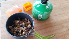 homemade granola for backpacking