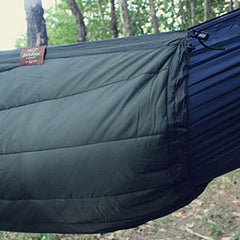 underquilts block the wind under your hammock