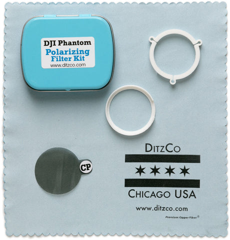 Circular Polarizing Filter Kit for DJI Phantom 3 & 4