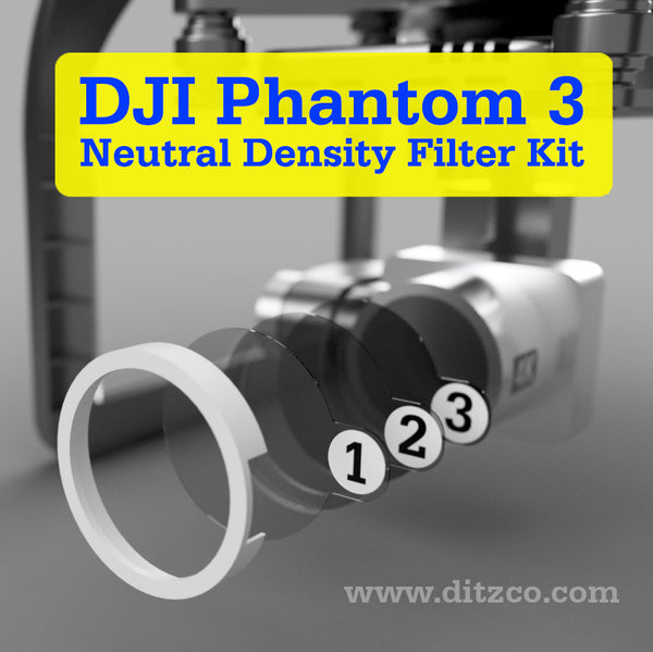3-Pack Neutral Density Filter Kit for DJI Phantom 3 Quadcopter Drone