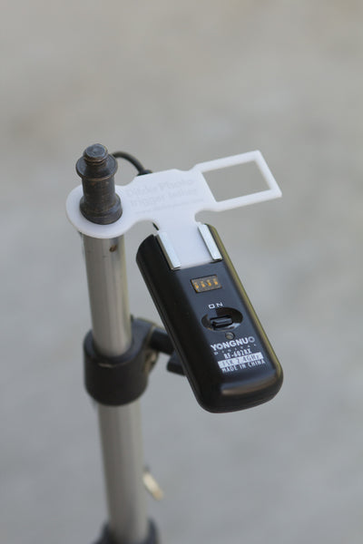 Trigger Tether attached to light stand