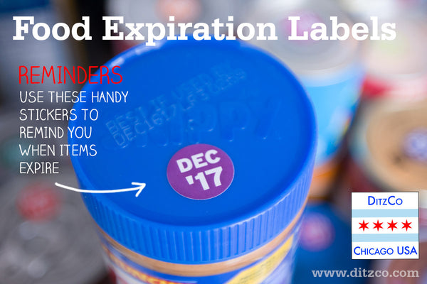 Reduce food waste with food expiration stickers