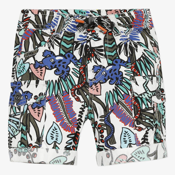 Jungle Print Cargo Shorts