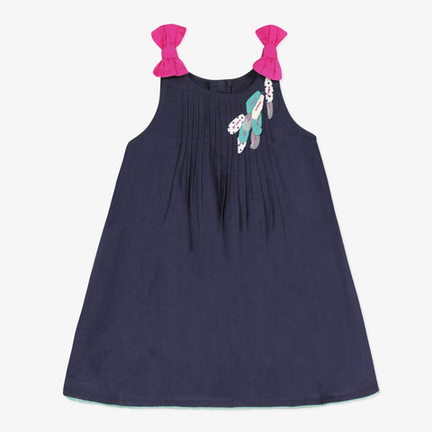 Navy Blue Sundress with Bow