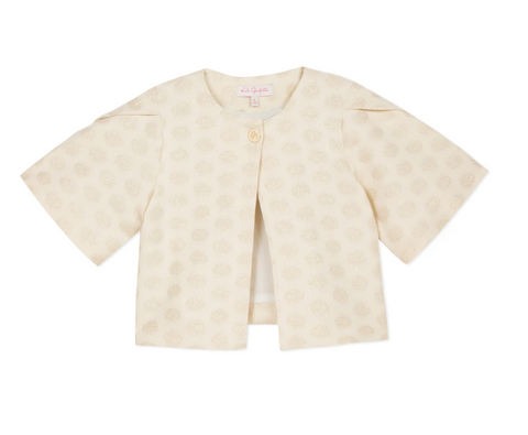 Gold Jacquard Cape Jacket