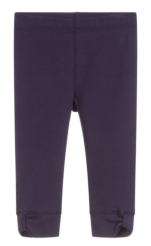 Navy Blue Cotton Leggings