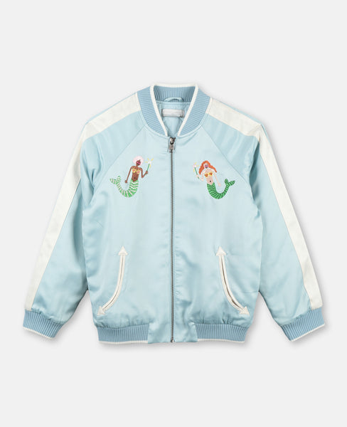 Mermaids Satin Bomber Jacket