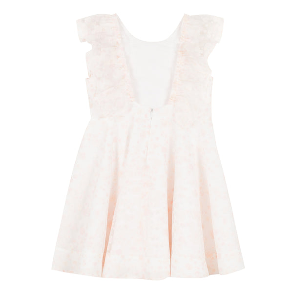 Pinafore Dress in Floral Organza
