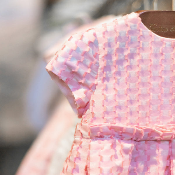 Nude Pink Jacquard Dress