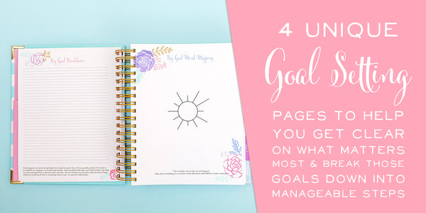 Brilliant Life Planner - Vintage Floral Writing