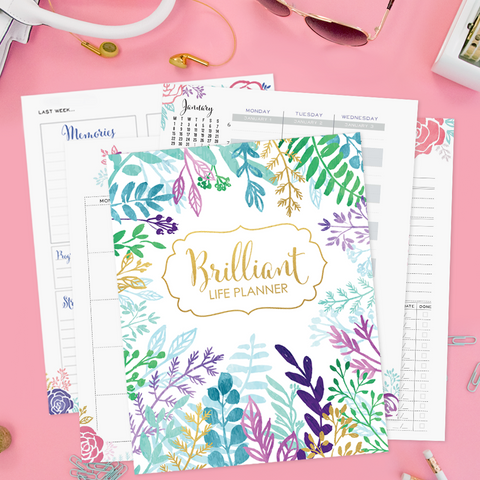 Brilliant Life Planner - Printable Version + Planner School Video Course