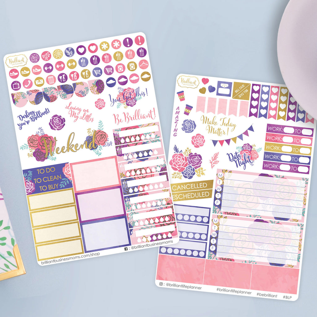 Floral Planner Sticker Set