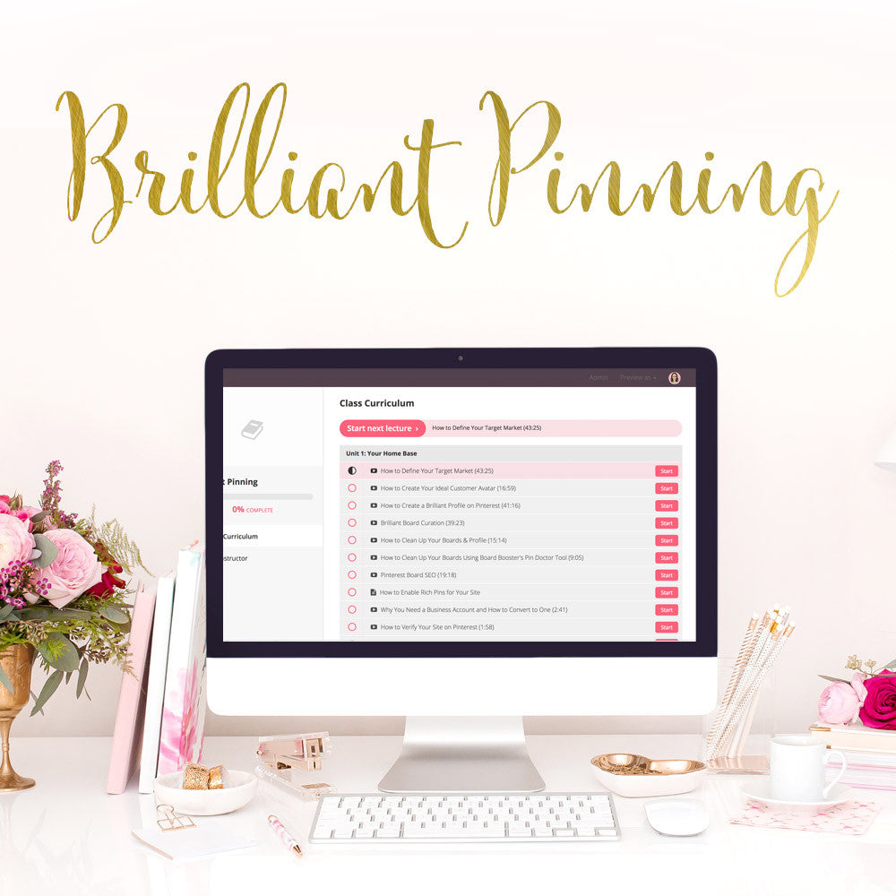 Brilliant Pinning - Webinar Deal