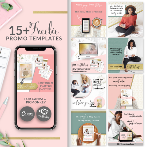 15+ Freebie Promo Square Templates - Blush Pink and Gold Edition