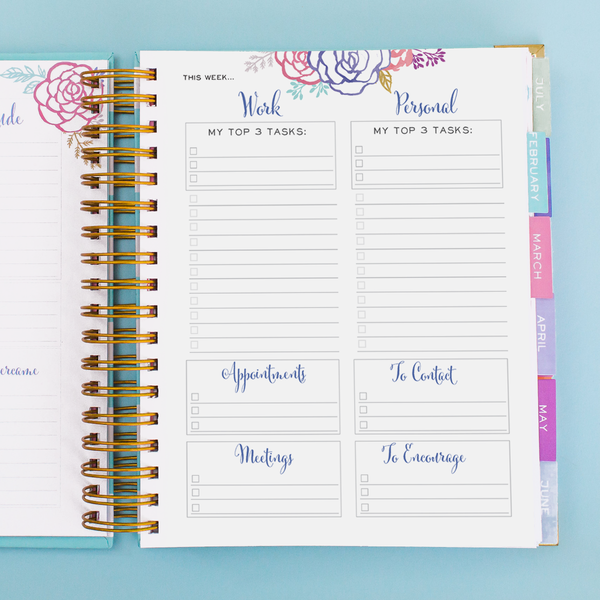 Brilliant Life Planner - Black and White Writing